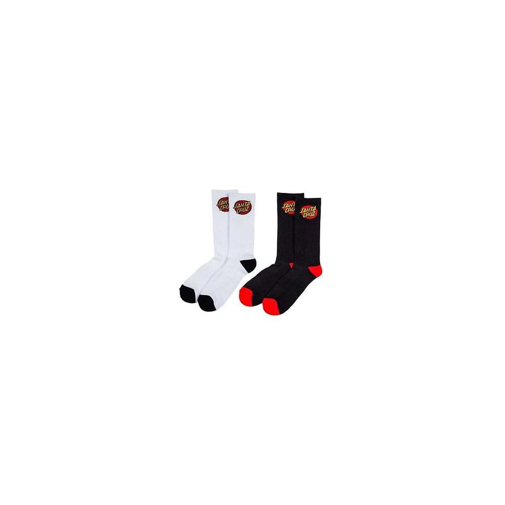 Calze Santa Cruz  Socks Classic Dot 2Pack BK WH  5f869bee201d