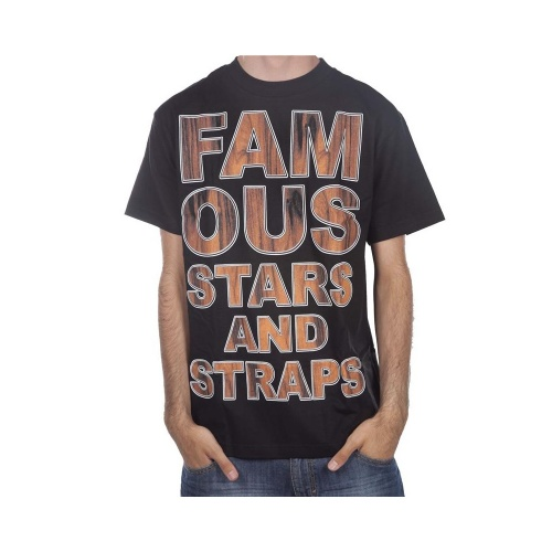 T-Shirt Famous Stars&Straps: Rosewood Type BK