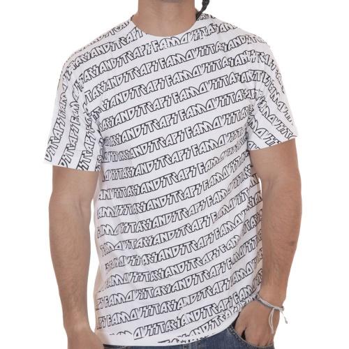 T-Shirt Famous: Cascade All Overprint WH