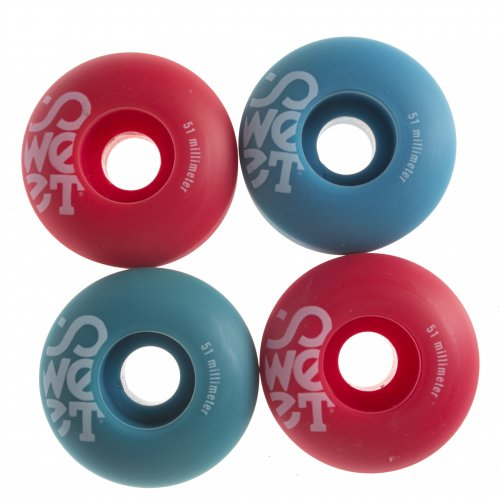 Ruote Sweet: Twins Blue/Red (51 mm)