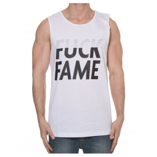 Canotta Grimey: Fuck Fame Tank Top WH