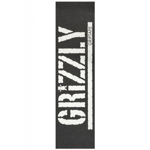 Grip Grizzly: Oversized Stamp Print White