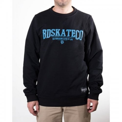 Felpa BDSkateCO: Crew Sweater Logo BK