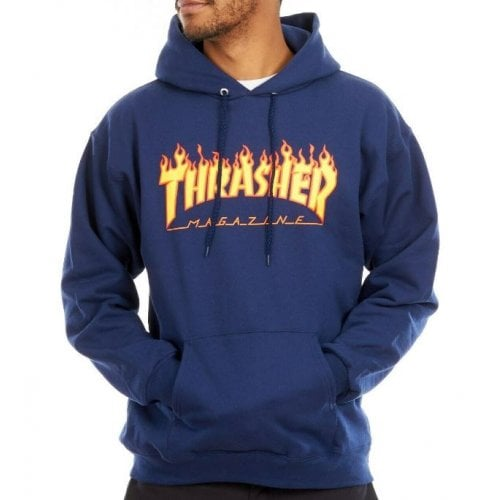 Felpa Thrasher: Flame Logo Hood NV
