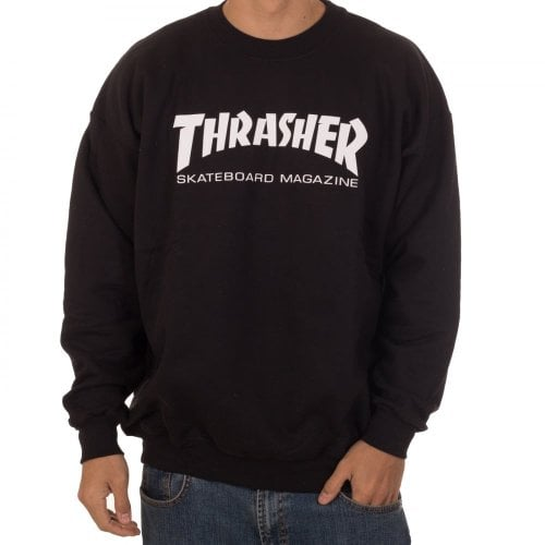 Felpa Thrasher: Skate Mag Crew BK