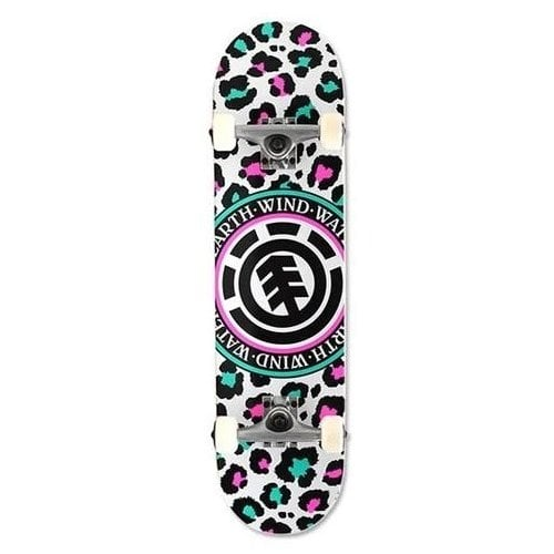 Skate Completo Element: Leopard Party 7.7