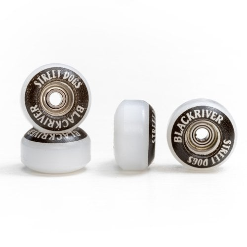 Ruote Fingerboards Blackriver: Street Dogs White