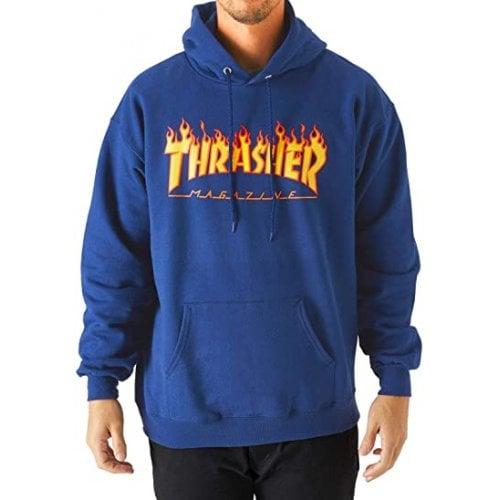 Felpa Hoodie Thrasher: Flame Logo Hood RY