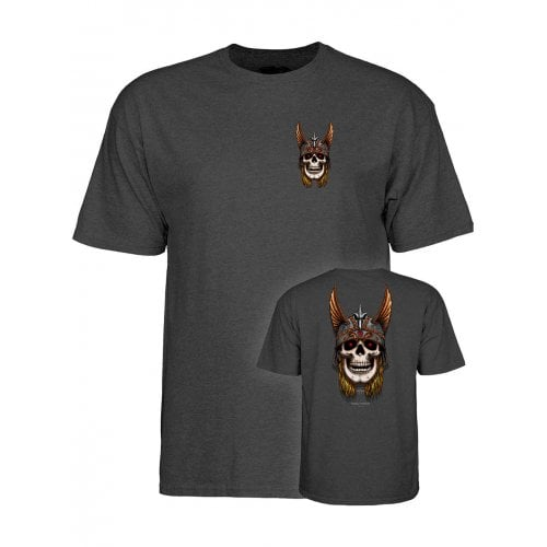 T-Shirt Powell Peralta: Andy Anderson Skull Grey