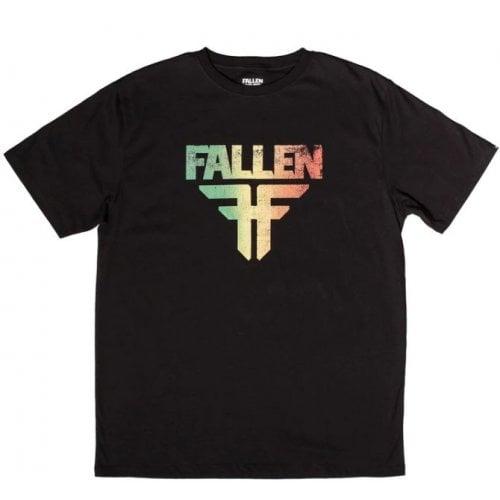 T-Shirt Fallen: Insignia Black/Rasta