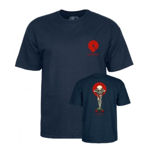 T-Shirt Powell Peralta: Tucking Skeleton Navy