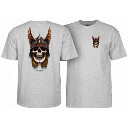 T-Shirt Powell Peralta: Andy Anderson Skull AT. Heather Grey