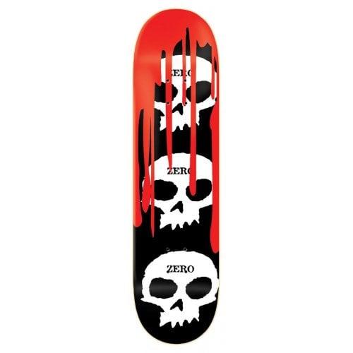 Tavola Zero: 3 Skulls BK/WH/RD 8.0x31.6
