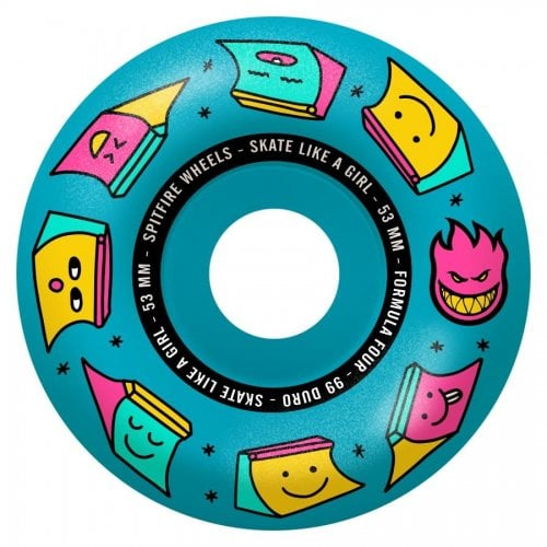 Ruote Spitfire: F4 99 Sk8 Like a Girl Blue (53mm)