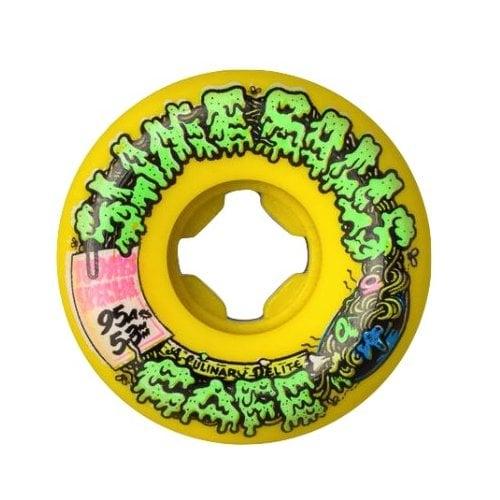 Ruote Santa Cruz: Double Take Cafe Vomit Mini Yellow 95A (53 mm)