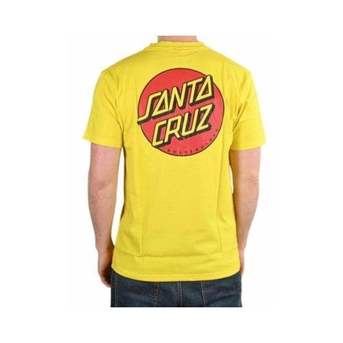 T-Shirt Santa Cruz: Classic Dot Chest B Yellow