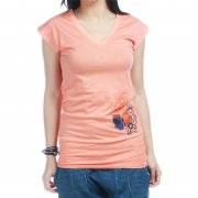T-Shirt Donna Roxy: Be Merry Stripe OR, XS