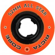 Ruote Ricta: All Star Orange/Black Chrome (52 mm)
