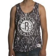Mitchell & Ness Canotta Mitchell & Ness: NBA Reversible Mesh Tank Brooklyn Nets GR/WH