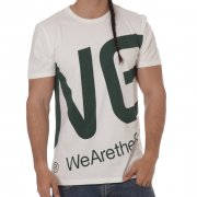 T-Shirt WESC: Blown Up Logo Winter WH