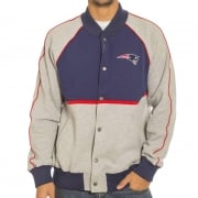 Giacca Majestic: Letterman Jacket Patriots NV/GR
