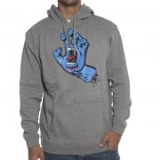Felpa Santa Cruz: Hood Screaming Hand Dark Heather GR