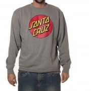 Felpa Santa Cruz: Crew Classic Dot Dark Heather GR