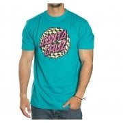 T-Shirt Santa Cruz: Check Waste Dot Lake Blue BL