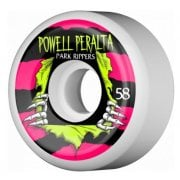 Ruote Powell Peralta: Park Ripper White 2 PF (58mm)