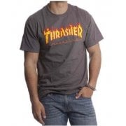 T-Shirt Thrasher: Flame Logo GR
