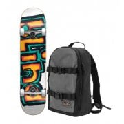 Skate Complete Blind + Backpack: Backpack with First Push OG Matte Orange/Green 7.75