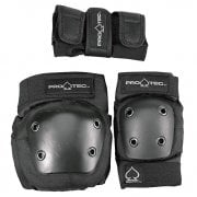 Set Protezioni Pro-Tec: Street Gear Junior 3 Pack Black