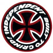 Adesivo Independent: Sticker Built to Grind 15 BK/RD/WH