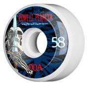Ruote Powell Peralta: Ray Rod Skull & Sword White/Blue 90A (58mm)