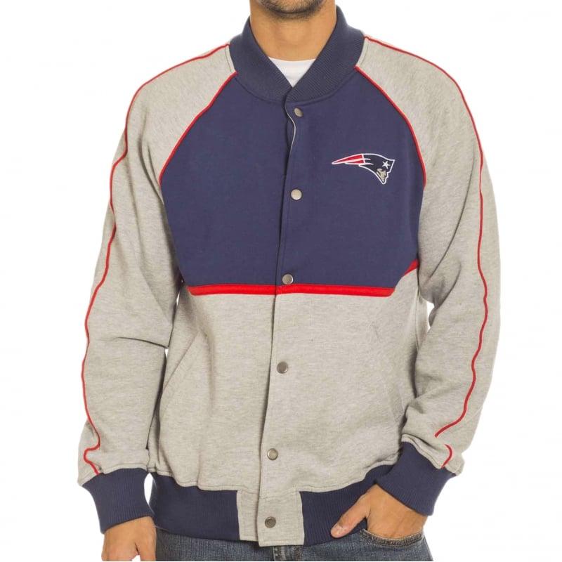 Majestic Jacket Letterman Jacket Patriots NV//Gr